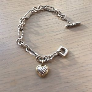David Yurman Sculpted Cable Heart Bracelet